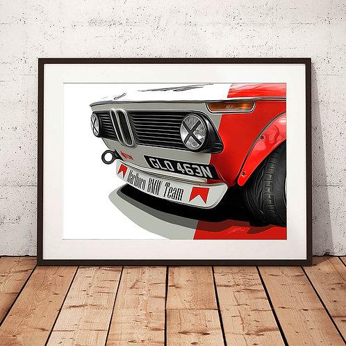 BMW 2002 Wide-arch 1974 - 'Marlboro 2002' - Fine Art Print