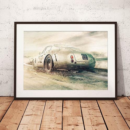 Ferrari 250GT/C SWB Tour de France - 'Blast through Provence' - Fine Art Print