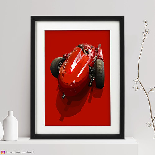 Ferrari-Lancia D50  J.M.Fangio - 'Master & Machine' - Fine Art Print
