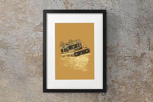 Land Rover Defender 110 - 'Sandglow Soup' - Camel Trophy 1984 - Fine Art Print