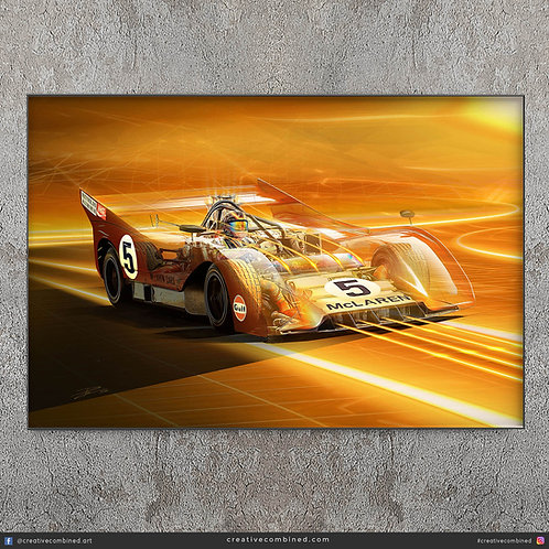 Mclaren M8F Can Am 1971 - Denny Hulme - Limited Edition Fine Art Print
