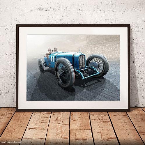 Ballot 3/8 LC  'Goux Time' - 1921 Italian Grand Prix  - Fine Art Print