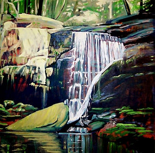 Falls #1 a painting by Susan Miiller.jpg