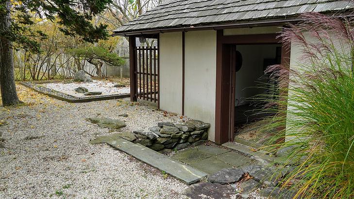Natalie fit a Zen Garden into a corner of her stroll garden