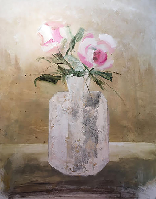 Peonies, a painting by SG Schuman