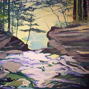 Falls #2 a painting by Susan Miiler