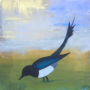 detail of Magpie by Stacey Schuman