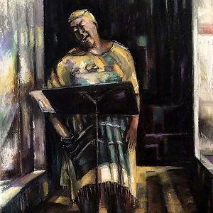 detail from Street Singer by Jackie Merritt