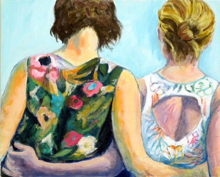 #21, Together, a painting by Connie Freid.jpg