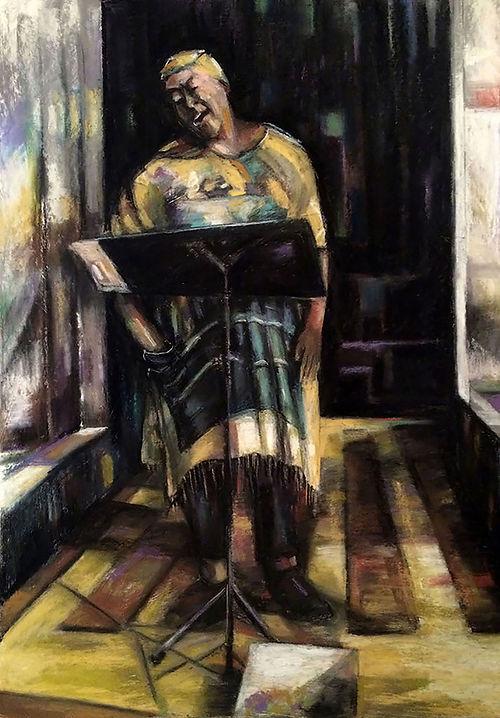 #6, Street Singer, a pastel by Jackie Merritt.jpeg