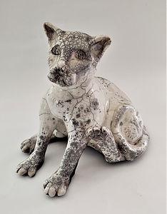 Raku-Cat by Sally Aldrich