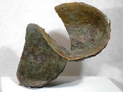 Twist a bronze sculpture by Sondra Gold