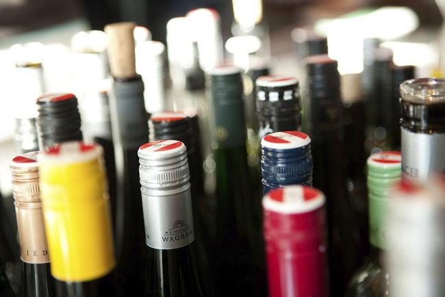 Wein mit Drehverschluss