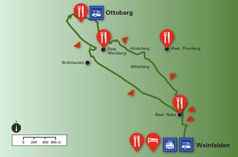 Route Weinweg Weinfelden