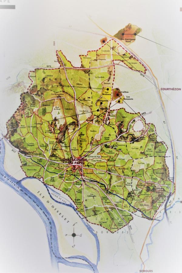 Karte Châteauneuf-du-Pape