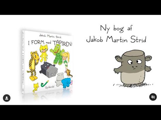 Gyldendal animation til SoMe for Jakob Martin Strid bog