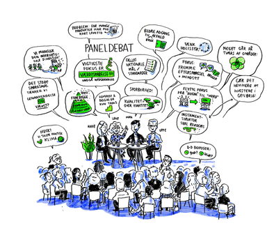 Visualisering af paneldebat
