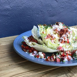Our brand new iceberg wedge with bacon,