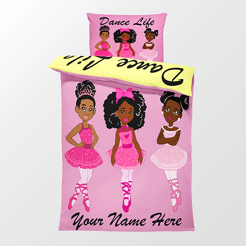"CUSTOMIZED  ""DANCE LIFE""DUVET COVER SET"