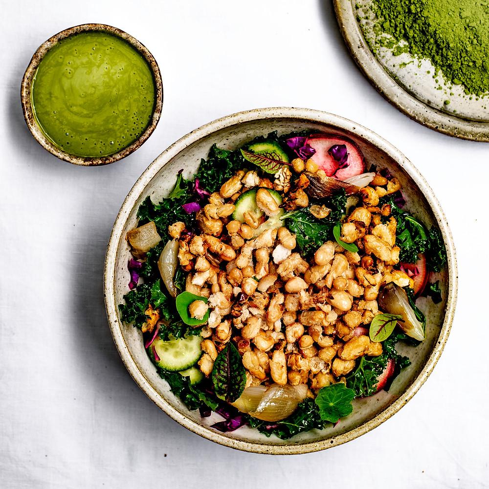 Kale salad recipe | Miso dressing recipe