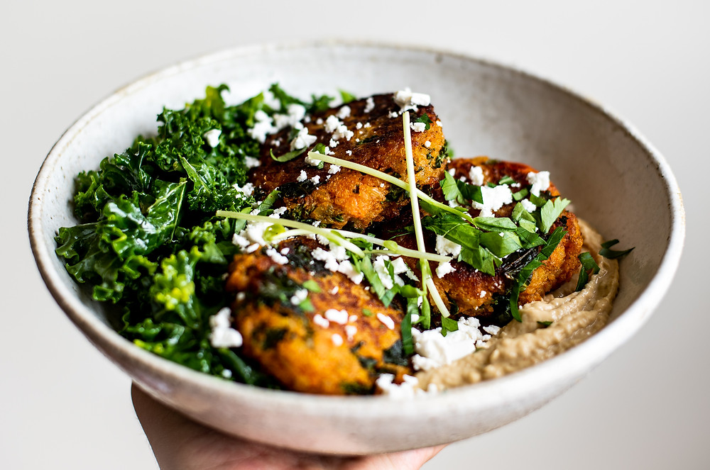 Sweet Potato Fritters with Turmeric and Ginger by Ginger & Co