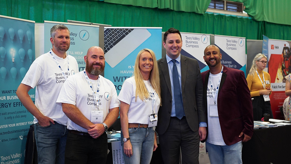 Some of Team TVBC with Tees Valley Mayor Ben Houchen