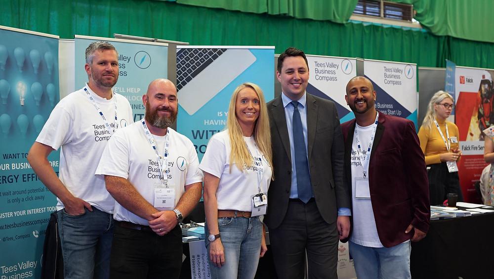 Some of Team TVBC with Tees Valley Mayor Ben Houchen