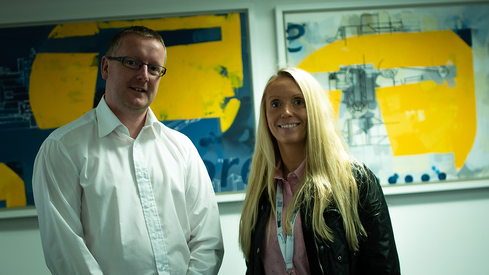 Andy Stevenson from Ardmore Craig and Gemma Walton from Tees Valley Business Compass