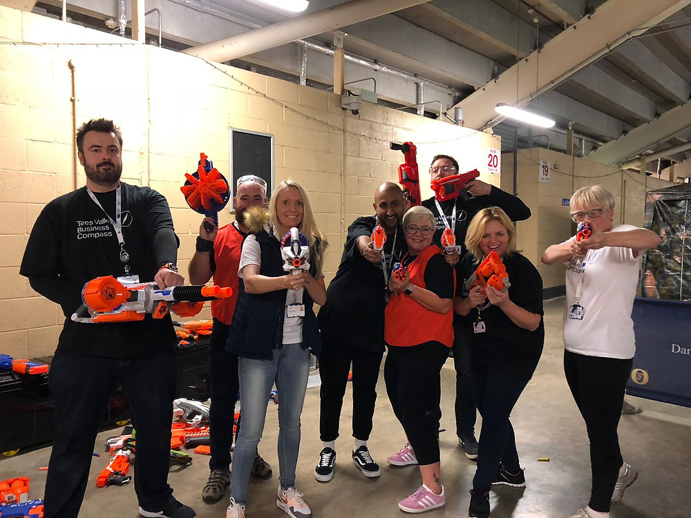 Team TVBC at NERF Wars Networking