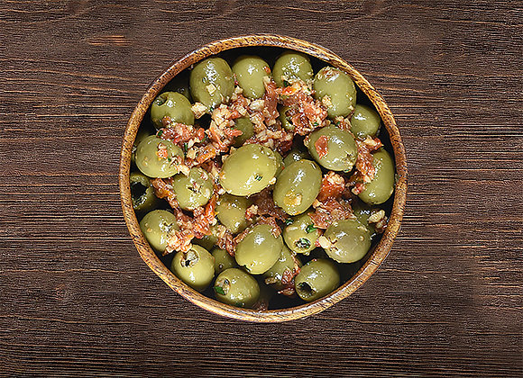 Green Olives with Tomatoes & Lemon Juice