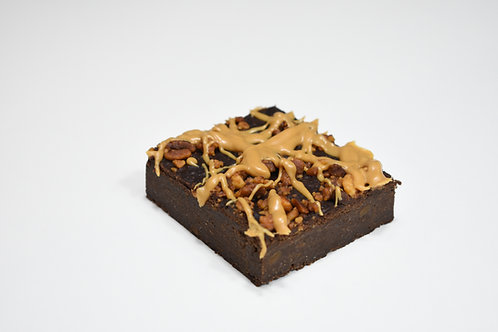 Vegan, Gluten Free & Sugar Free Peanut Butter Brownie