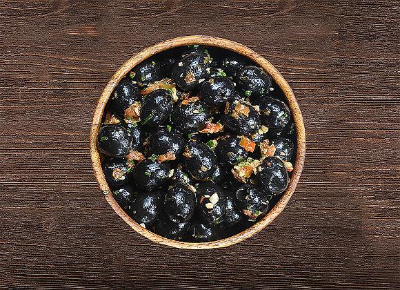 Black Olives With Tomato, Pepper & Lemon juice