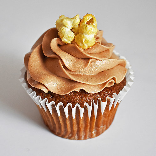 Toffee Popcorn Cupcake