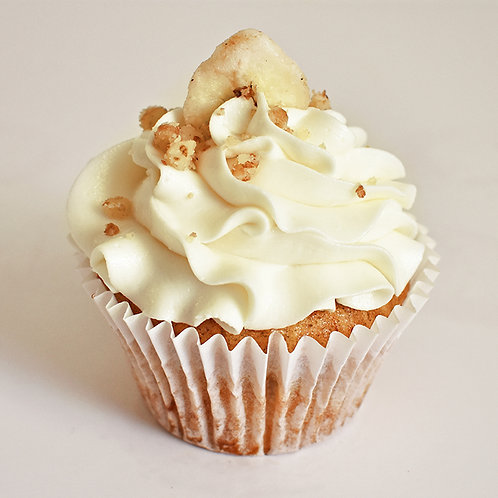 Banana Maple Walnuts Cupcake
