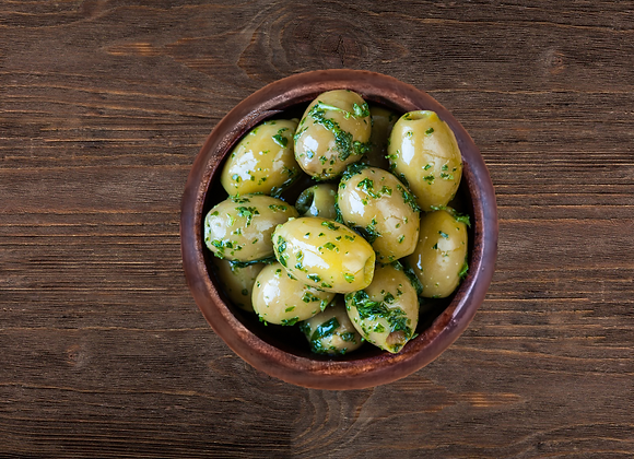 Pitted Green Olives With Charlotte, Tarragon,Lemon Juice