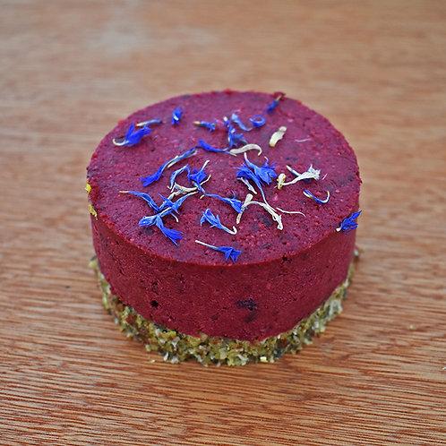 Raspberry Cheesecake - Vegan, Wheat Free and Sugar Free