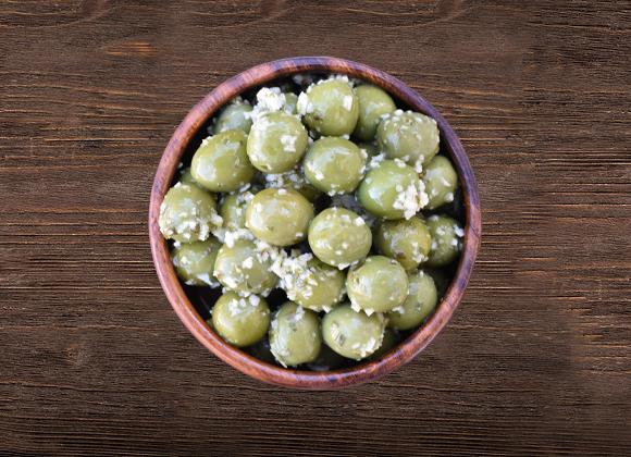 Nocellara Whole Olives with Basil & Garlic