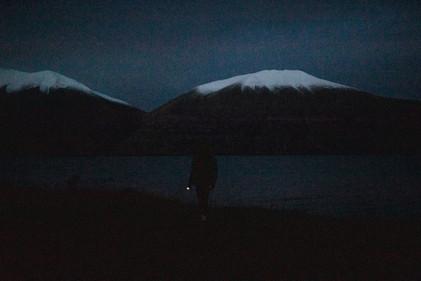 Ohau snowfield campsite at night