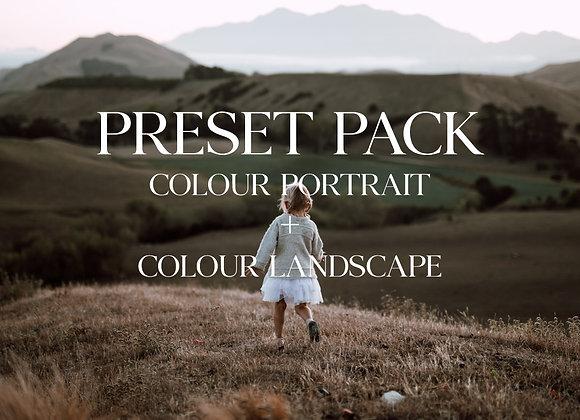 Colour preset, portrait + landscape