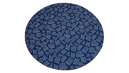 Round - CUSHY PLAY MAT - Space Blue