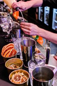 Glasshouse cocktail making