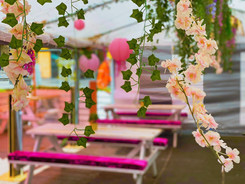 Glasshouse marquee decorations