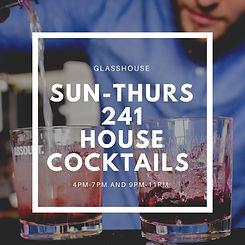 Glasshouse nottingham 2for1 Cocktails