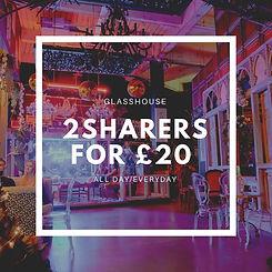 Glasshouse nottingham 2 sharers for 20