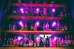 Glasshouse bar drink selection