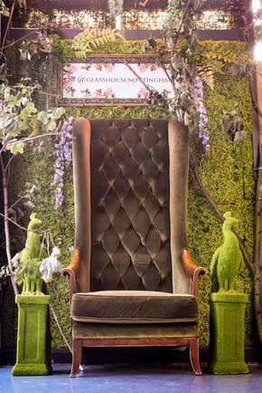Glasshouse Cocktail bar, throne