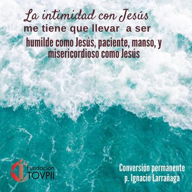 La intimidad con Jesús