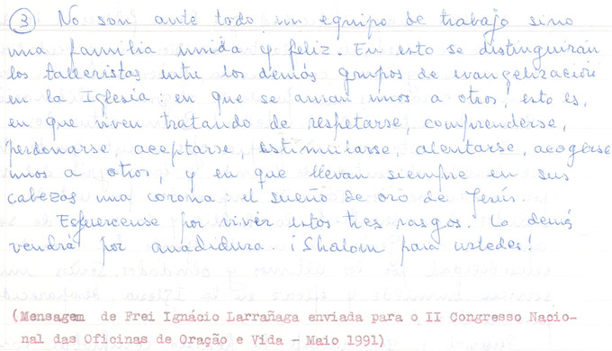 Message Father Ignacio, Part 2