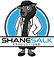 The Shane Salk Productions Logo. A black sheep in a lab coat with a slightly confused look