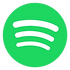 Spotify Logo. Click Here to Listen on that platform